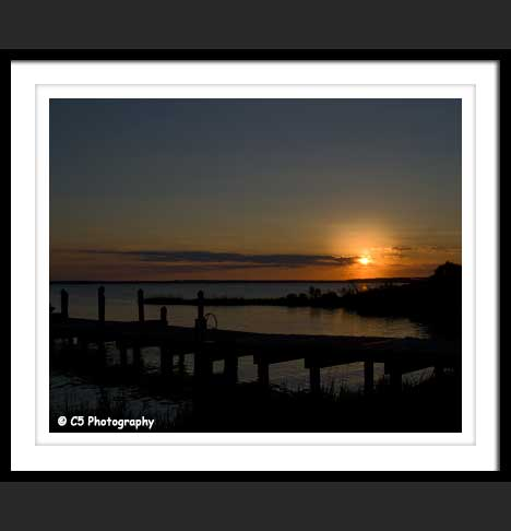 Photograph of pier in Chesapeake Bay Maryland