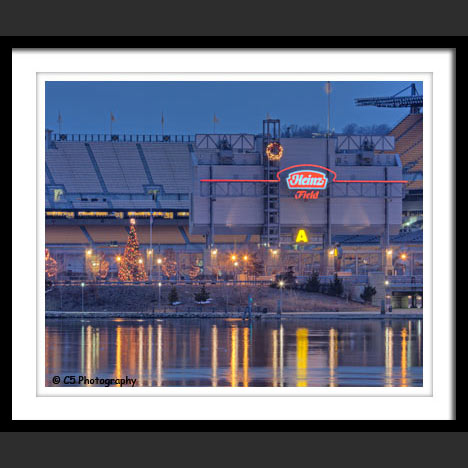 Pittsbugh Steelers Heinz Field with Christmas Tree