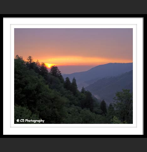 Smoky Mountain Sunset Photograph