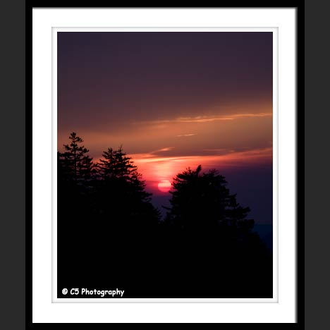 Great Smoky Mountain Sunset Nature Photograph