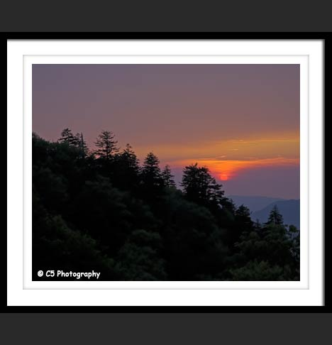 Smoky Mountain National Park overview Sunset Photo
